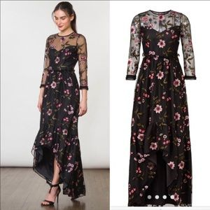 NWT Shoshanna midnight floral high low dress 2